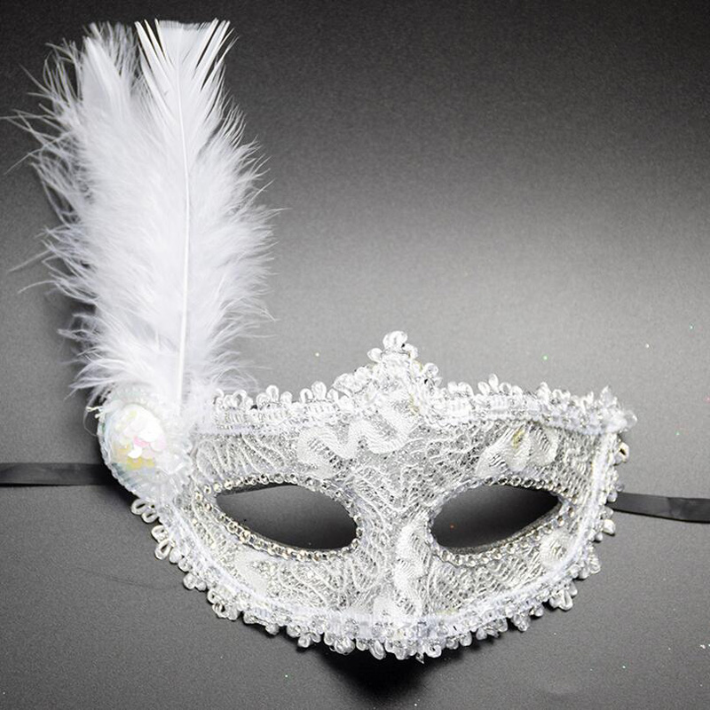 Lady Princess Gold Shining Masquerade Half Face Mask Party Dance Mysterious Veil