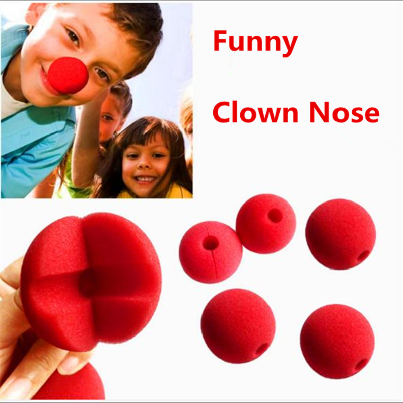 4pcs RED Nose Foam Circus Clown Ball Comic Party Halloween Costume  5cm