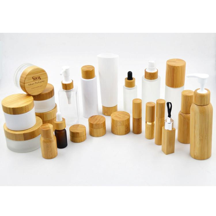 1oz-frosted-clear-bottle-30ml-bamboo-bottles-with-lotion-spray-cap-sample-skin-care-cream-cosmetics