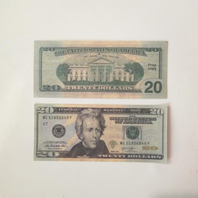 Flaunting wealth spraying money toys US dollar banknote 20US dollar banknote fake money film money of various denominations