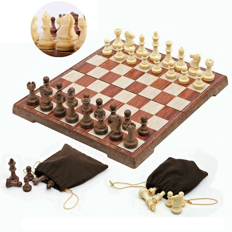 Large PVC CHESS GAME BOARD SET 51 cm Player Champion Birthday PRESENT GIFT Idea