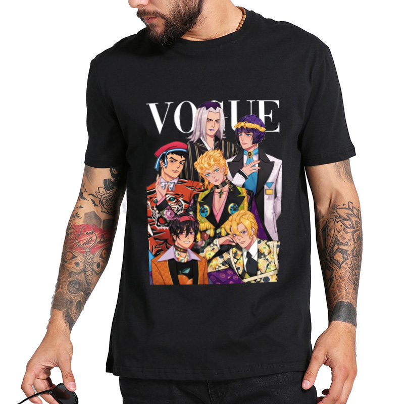 New Arrive designer T-shirt VOGUE JOJO Cartoon Harajuku Trend Printing Men's t shirt O-neck loose hiphop t-shirt for Men DHBOWC189