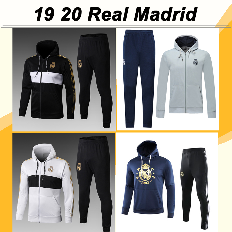 Real Madrid Soccer Jersey Black Zipper Cardigan Sweater Coat Clothes Tops