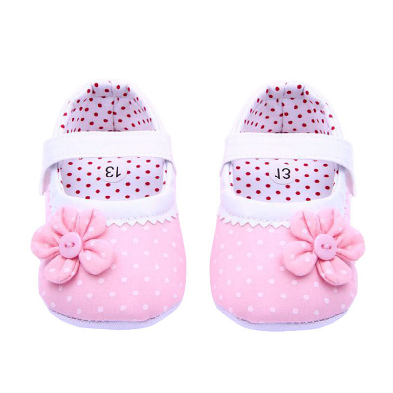 Summer Baby Girls Shoes Flower Soft Sole Cotton cloth Crib Shoes NDA84L17 (6)