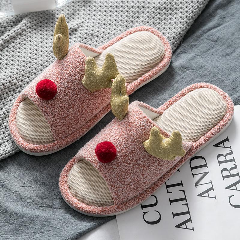 Cartoon Cute Pink Cat Summer Slide Slippers For Men Women Kid Indoor Open-Toe Sandal Shoes
