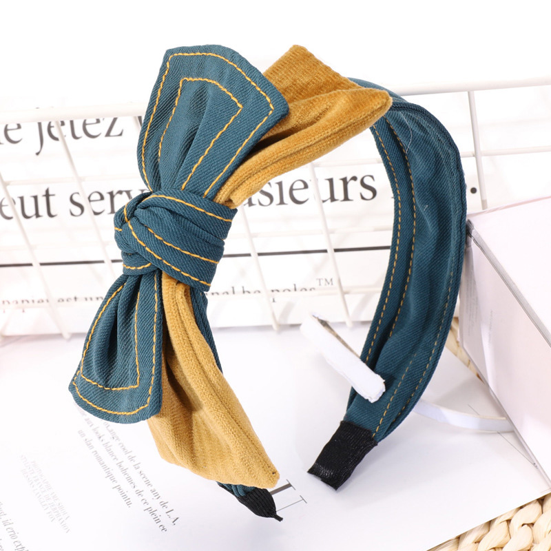 4 double layers bow hairbands for girls