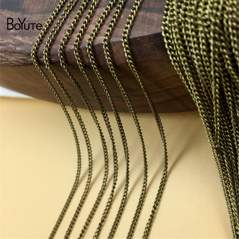 BoYuTe (100 MetersLot) Metal Iron 1.7MM Width Tassel Chain Bronze Gold Silver Plated Diy Hand Made Chain for Jewelry Making (3)