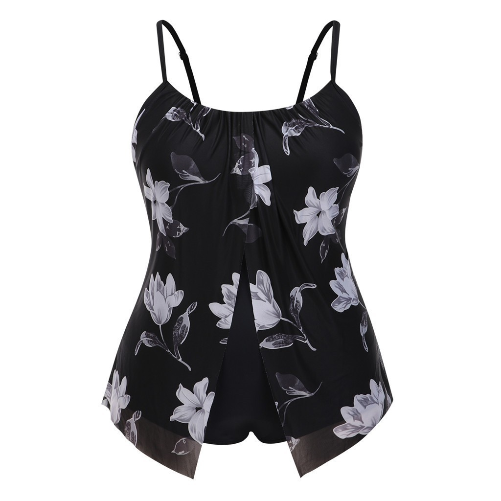 Maternity Swimsuit Plus Size Women Tummy Control Two Piece Print Swimwear Padded Push Up Swimsuits Costumi Da Bagno Donna A1