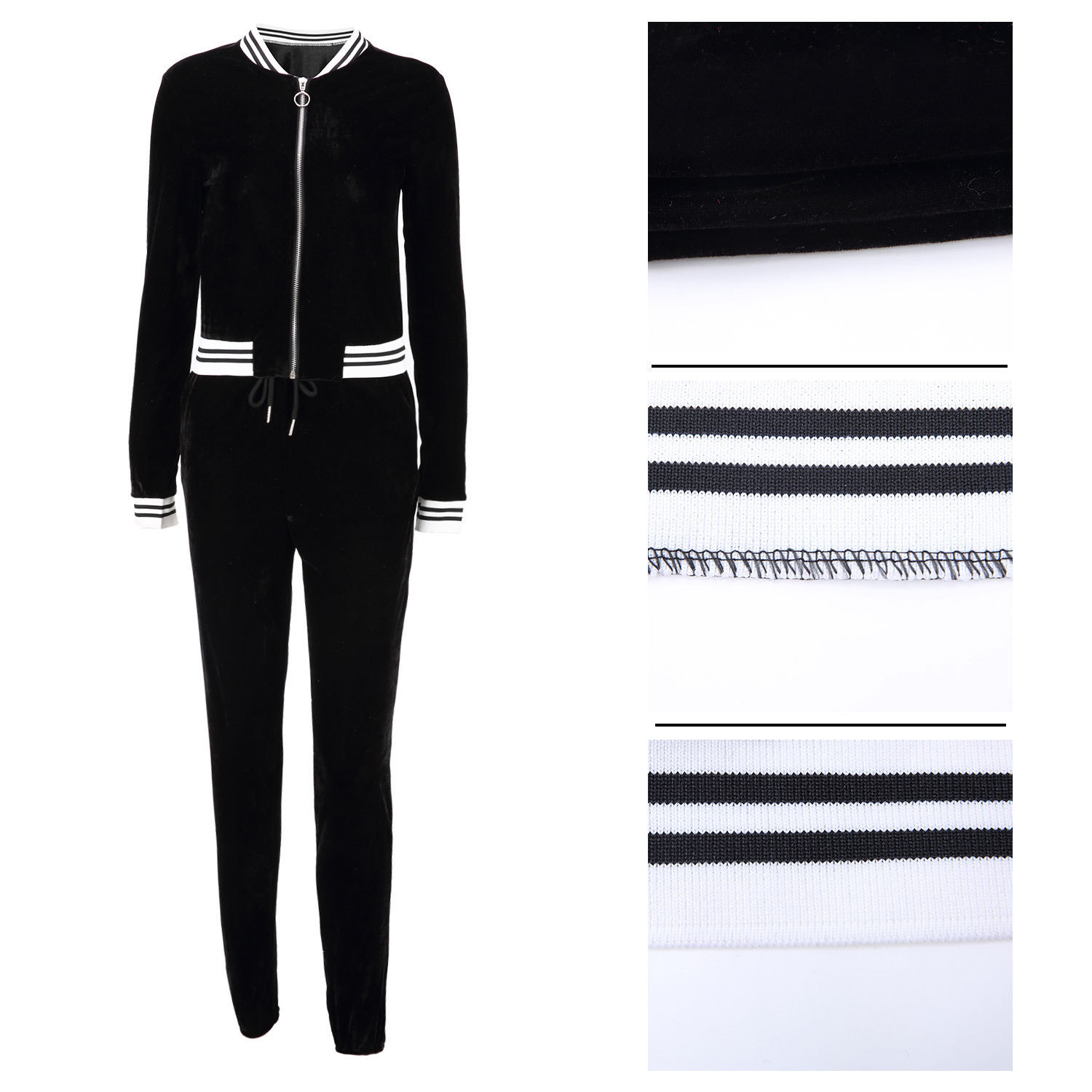 Large size 2018 fashion ladies standard code European and American sexy hot fashion casual tight leg sports suit two-pieceon