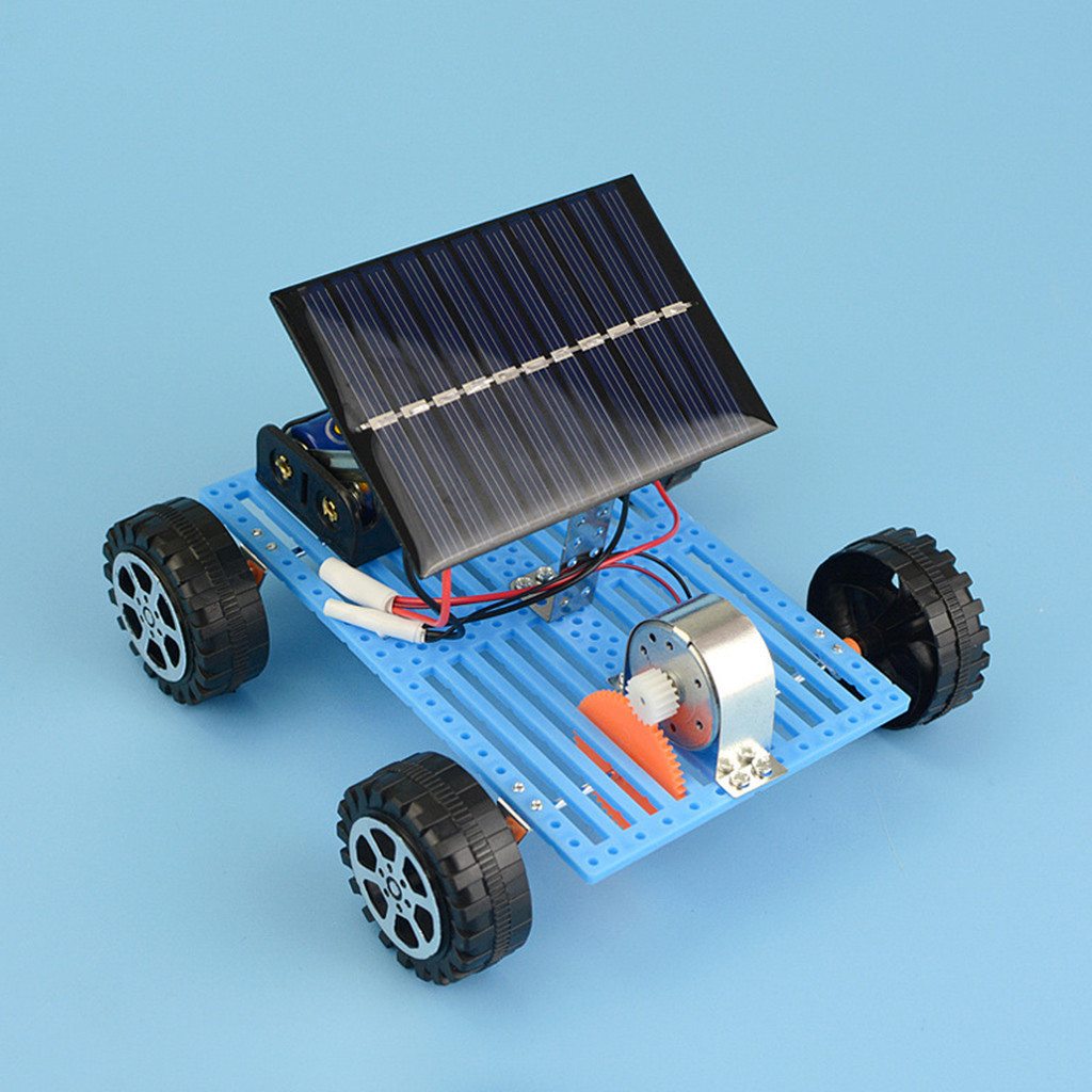 Toys For Children Mini Solar Powered Diy Car Toy Child Plastic Funny Educational Gadget Hobby Gift Solar Powered Toys
