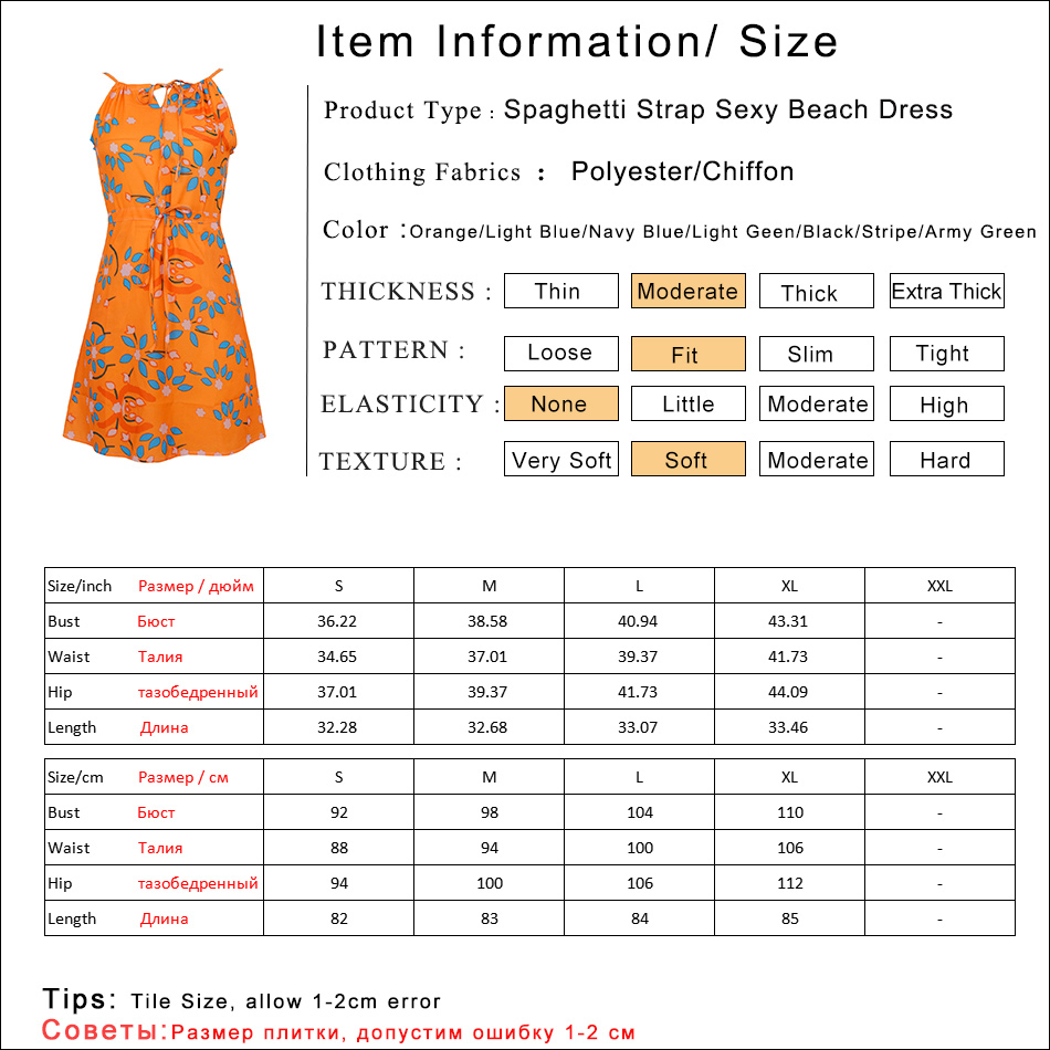 Gladiolus Chiffon Women Summer Dress Spaghetti Strap Floral Print Pocket Sexy Bohemian Beach Dress 2019 Short Ladies Dresses (6)