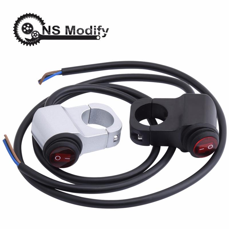 Interrupteur de modification dextinction de v/éhicule /électrique moto Interrupteur d/éclairage LED
