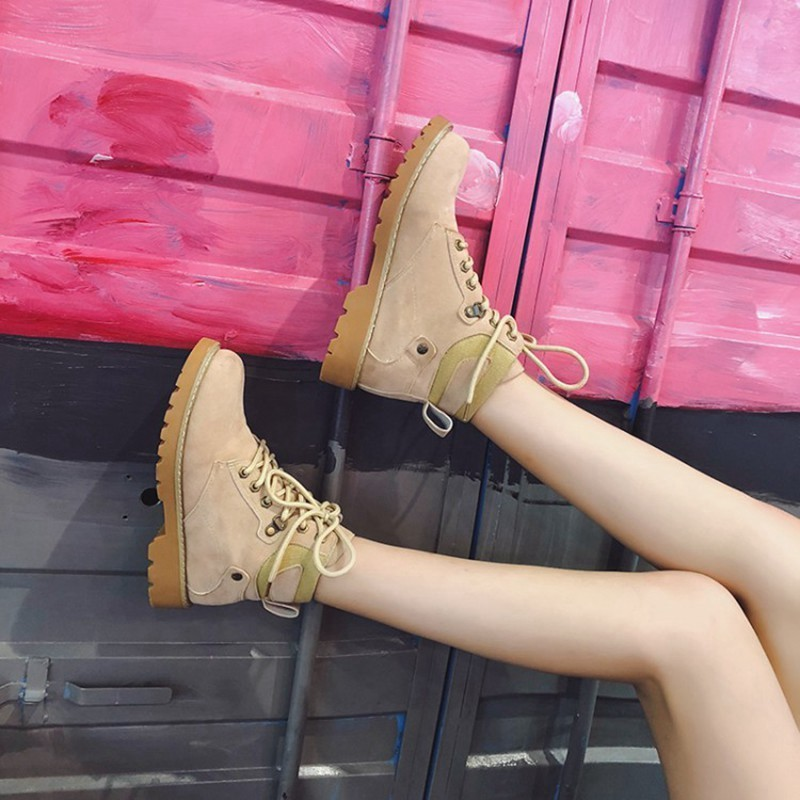 COOTELILI Fashion Rubber Ankle Boots For Women Motorcycle Boots Female Cool Casual Flat Shoes Woman Autumn Winter Shoes Ladies (5)