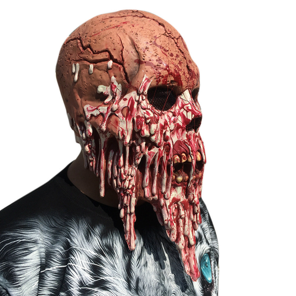 Bloody Zombie Mask Melting Face Adult Halloween Latex Costume Walking Dead Halloween Scary 1a7 Drop Shipping