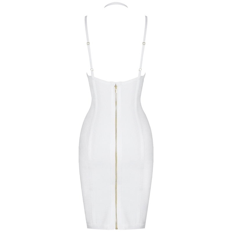 Deer Lady Celebrity Bandage Dresses 2019 New Arrivals Women Halter Sexy White Bandage Dress Bodycon Evening Party Dress Club Red T5190617