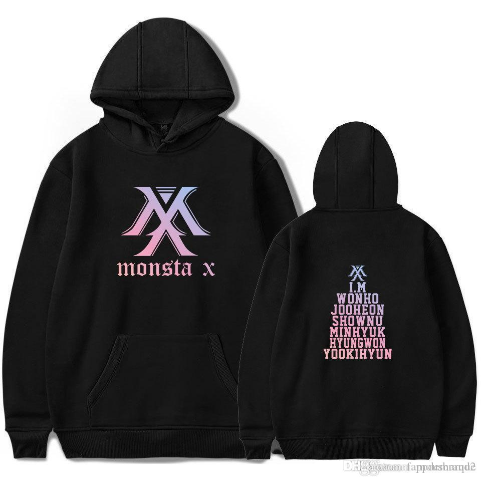 Monsta X Pullover Lightweight Pullover Breathable Sweatshirt Classic Long Sleeves Unisex