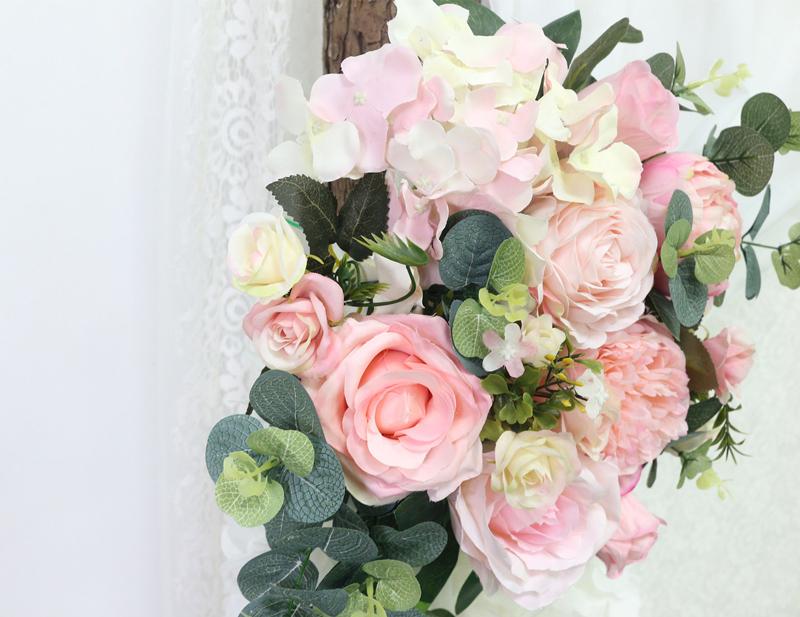 JAROWN Artificial Rose Flower Row Small Corner Flowers Simulation Silk Fake Flowers Wedding Decor Home Garland Decor Flores (3)