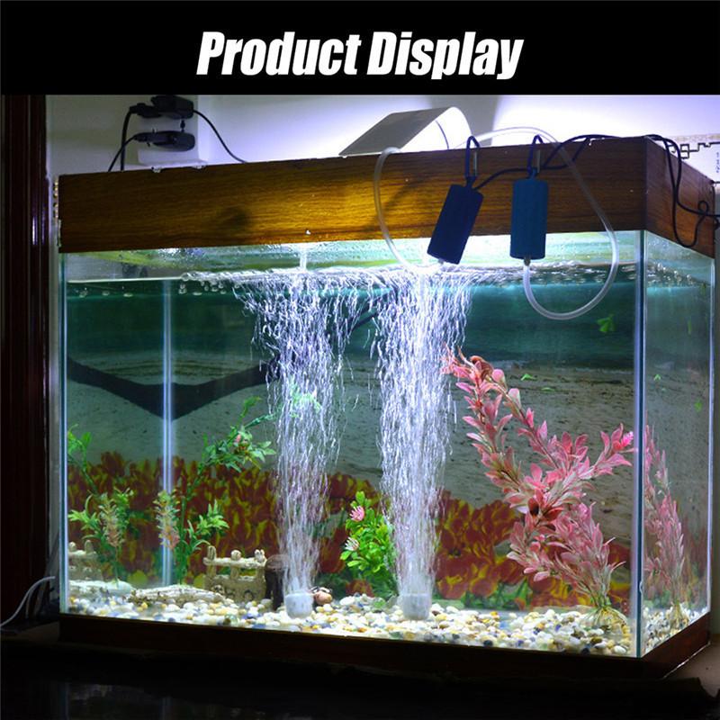 Aquarium Air Pump Mini USB Oxygen Pump Air Compressor Single Double Outlet Water Inflation Pump Aquatic Terrarium Fish Tank Accessories 10