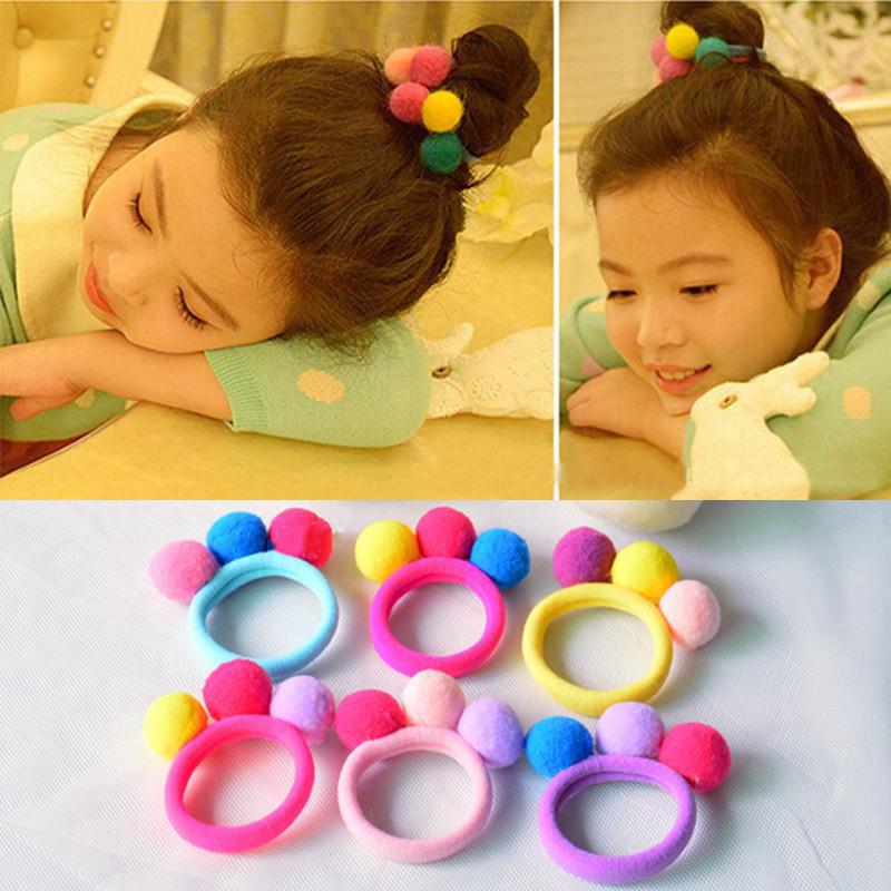 Hot-Sale--New-Cute-3-Balls-Elastics-Hair-Holders-Bands-Gum-Fashion-Kids-Candy-Rubber