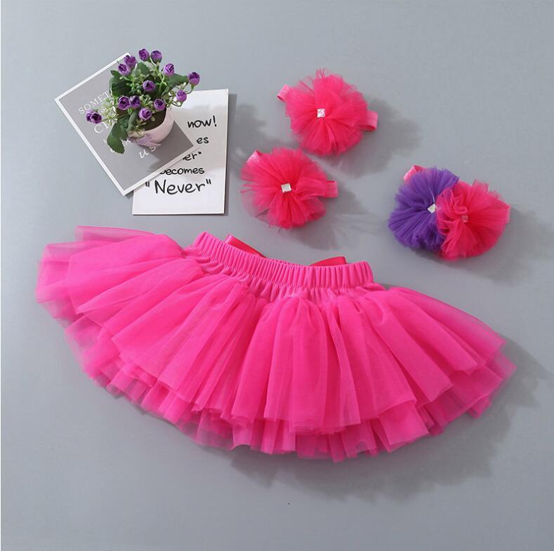 Tutu Skirt Photo Prop Photography Creative Stylish UK Baby Girl Flower Headband