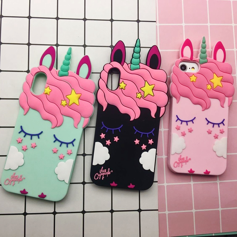 3D Cute Cat Unicorn Dog Rubber Case For iPhone 7 6 6S Plus 5s SE Soft Silicone Cartoon Cover Back For iPhone 8 7 6S 5S X Capa (28)