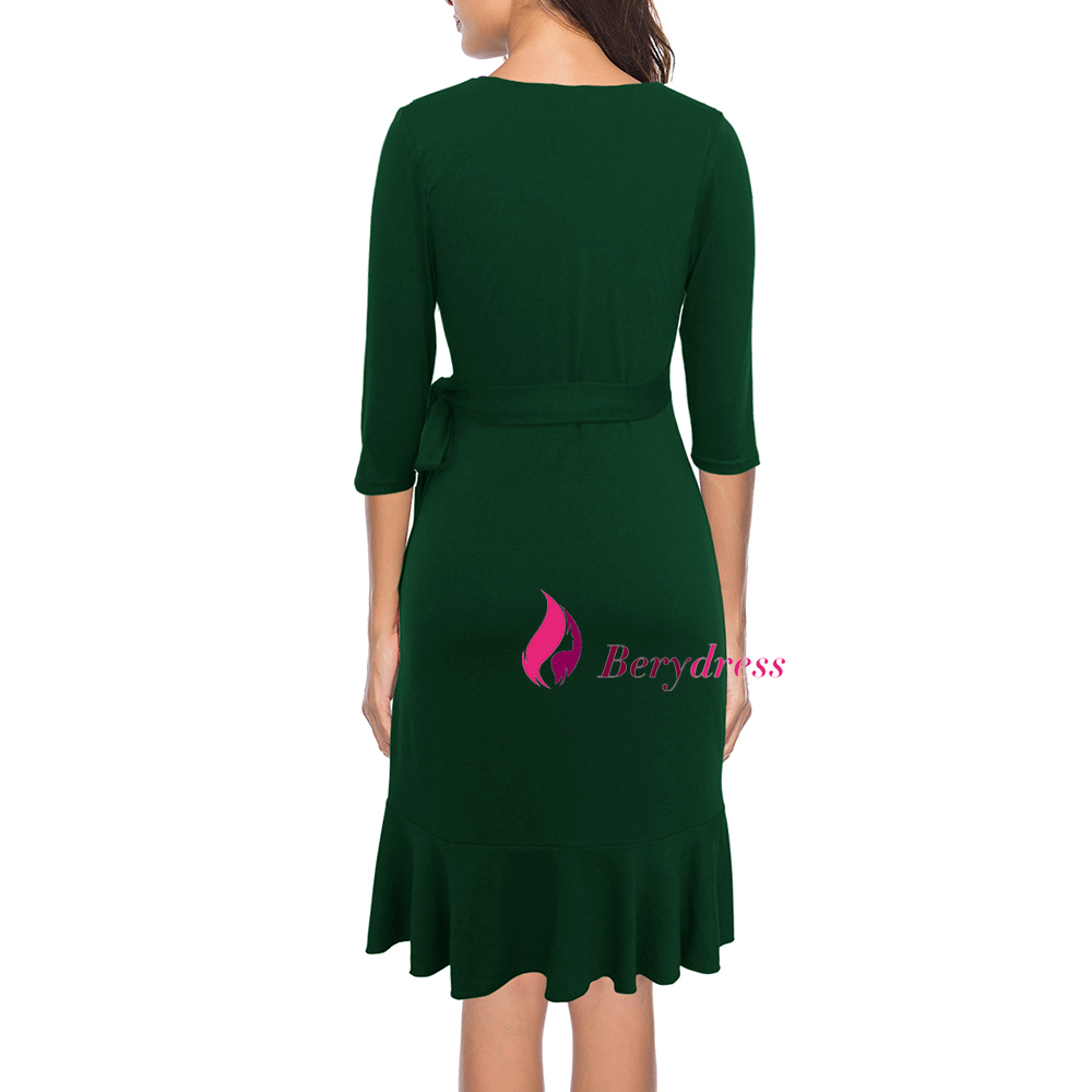 dark green dress back