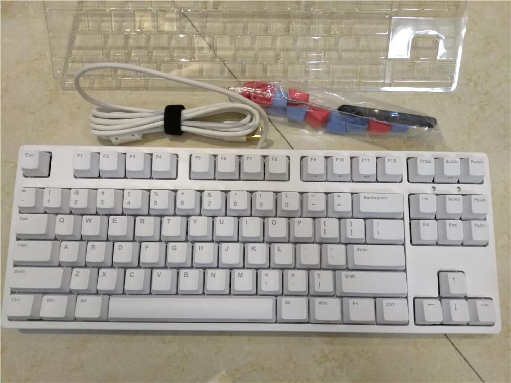 Ikbc C87 Tkl Механическая клавиатура Tenkeyless C87 Pbt Keycap Cherry Mx Silver Switch Коричневая скорость без подсветки игровой клавиатуры T190627