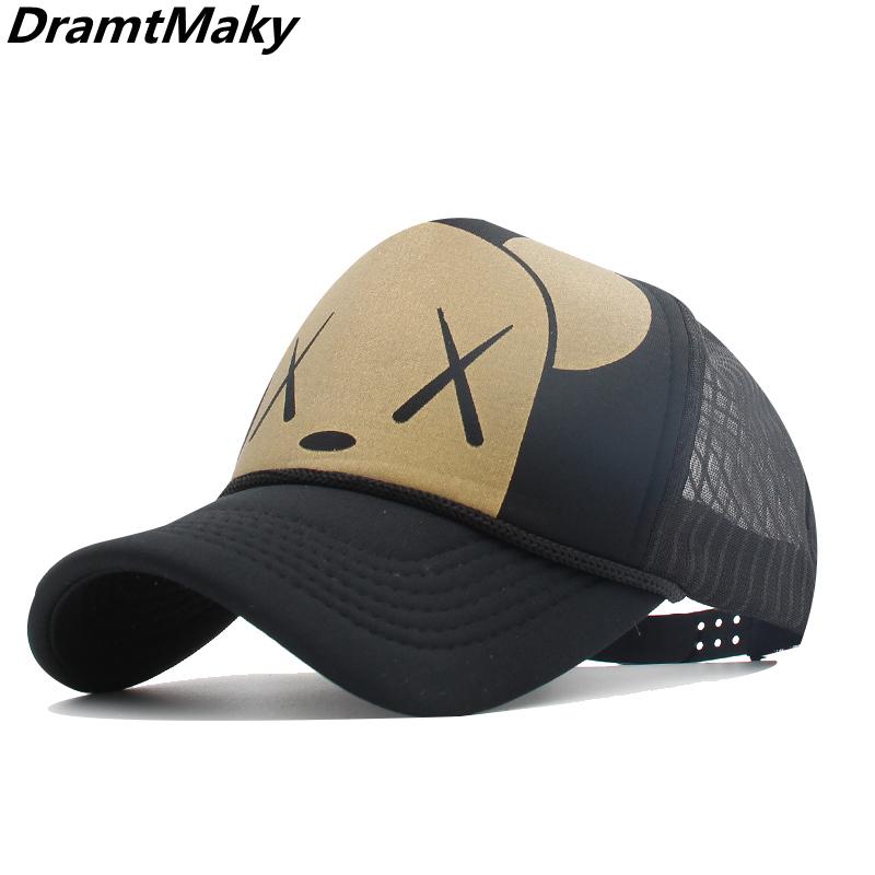 Baseball Caps for Women Popular Cotton Adjustable Unisex Mesh Snapbacks Cap NINETYRW Firm Mens Trucker Hat Lowes-Black-Land-Logo-Hollow