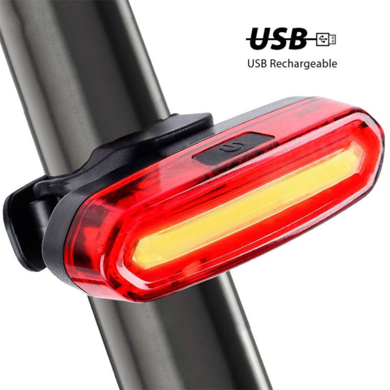LED Bicycle Cycling Tail Lamp USB Rechargeable Red Warning Light Bike Rear US EK