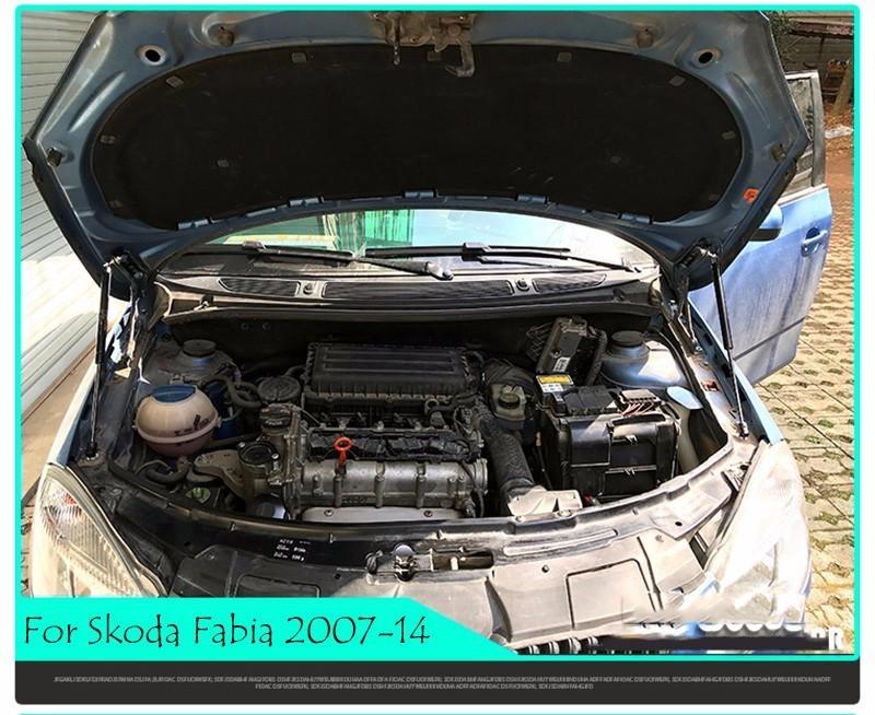 Car Bonnet Hood Support Sollevamento Molla Staffa Barra di sostegno Asta idraulica Skoda Fabia Roomster 2007-2019 Accessori auto