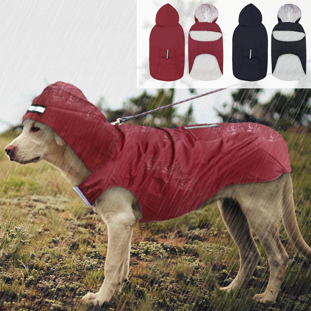 Mascota Perro Grande Impermeable Impermeable Gran Ropa para Perros Al Aire Libre Chaqueta de Lluvia Para Golden Retriever Labrador Husky Perros Grandes 3xl-5xl T8190615