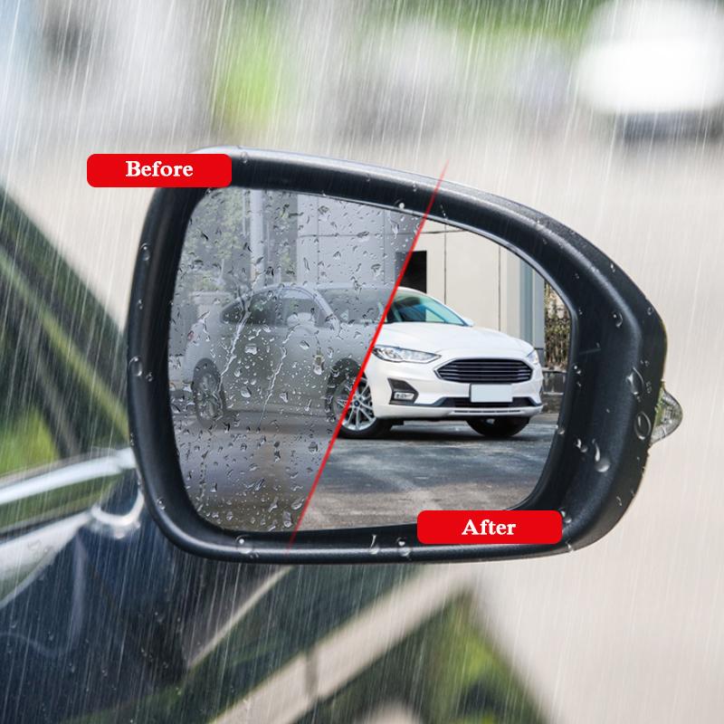 2pcs voiture étanche film anti-brouillard rétroviseur film autocollant fenêtre autocollant clair pour Ford EDGE Focus Kuga échapper Mondeo Films