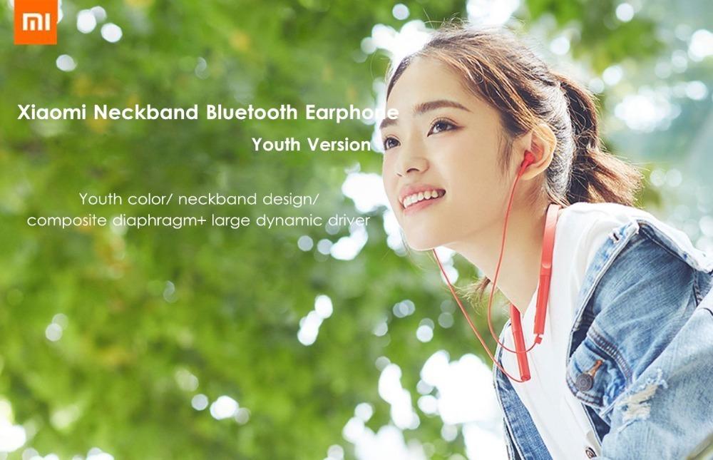 Newest Xiaomi Collar Bluetooth Headset Youth Version 2018 New Neckband Sports Earphone Fast Charge Mi Wireless Headphone (2)