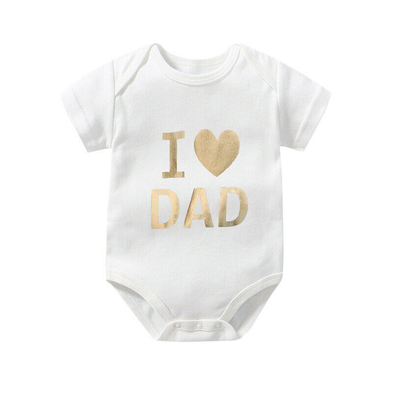 Happy Fathers Day Infants and Toddlers T Shirts Boys Girls Short Sleeves 6-24 Months