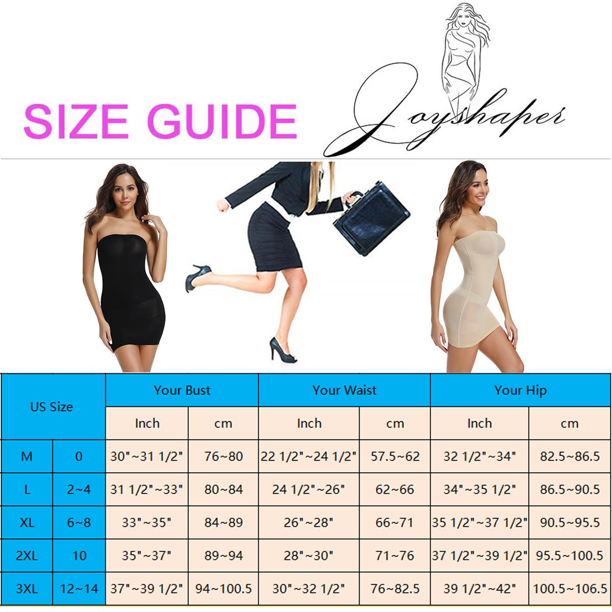 Joyshaper New Strapless Off Shoulder Top Dress Slip Body Shapers Mulheres Sexy Tummy Control Butt Lift Hip Skirt Shapewear sem costura