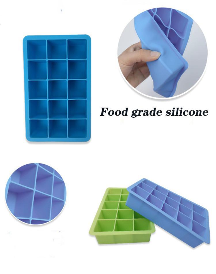 PPING Stampo per Ghiaccioli Stampi per Ghiaccioli in Silicone Gigante Cubo di Ghiaccio della Muffa Sfera di Ghiaccio della Muffa Blue