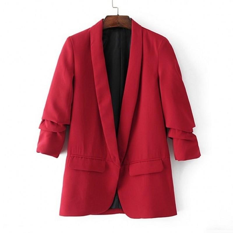 Fashion Slim Blazers Women spring Suit Jacket Female Work Office Lady Suit black pink None Button Female Business Blazer Coat Y190830