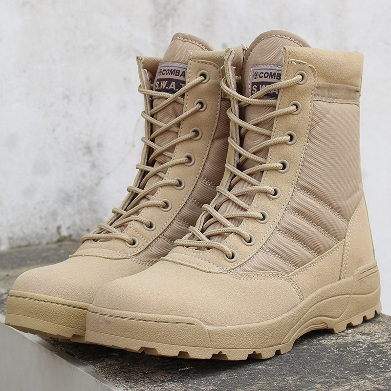 Spring Military Leather Boots Men's Combat Bot Infantry Tactical Boots Bot Army Bots Outdoor Climbing Hiking Boots