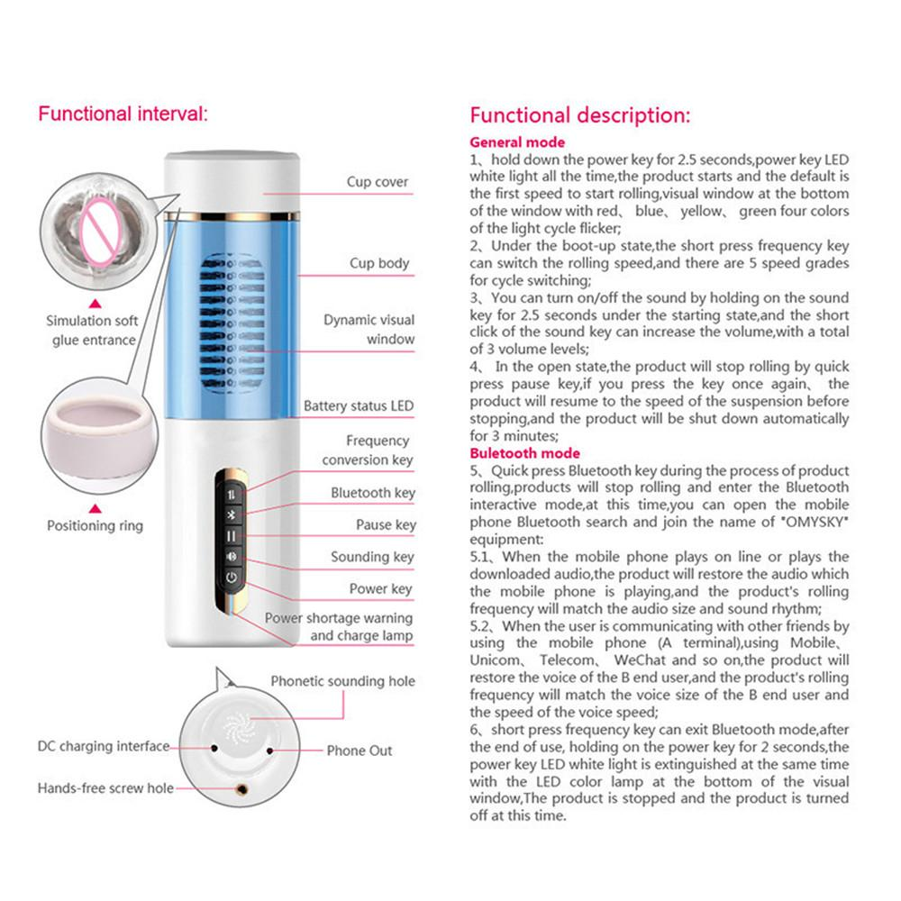 Automatic Telescopic Masturbation Cup Vibrator For Men Real Rotaion Vagina Pussy Oral Sucking Sex Machine Adult Sex Toys For Man (2)