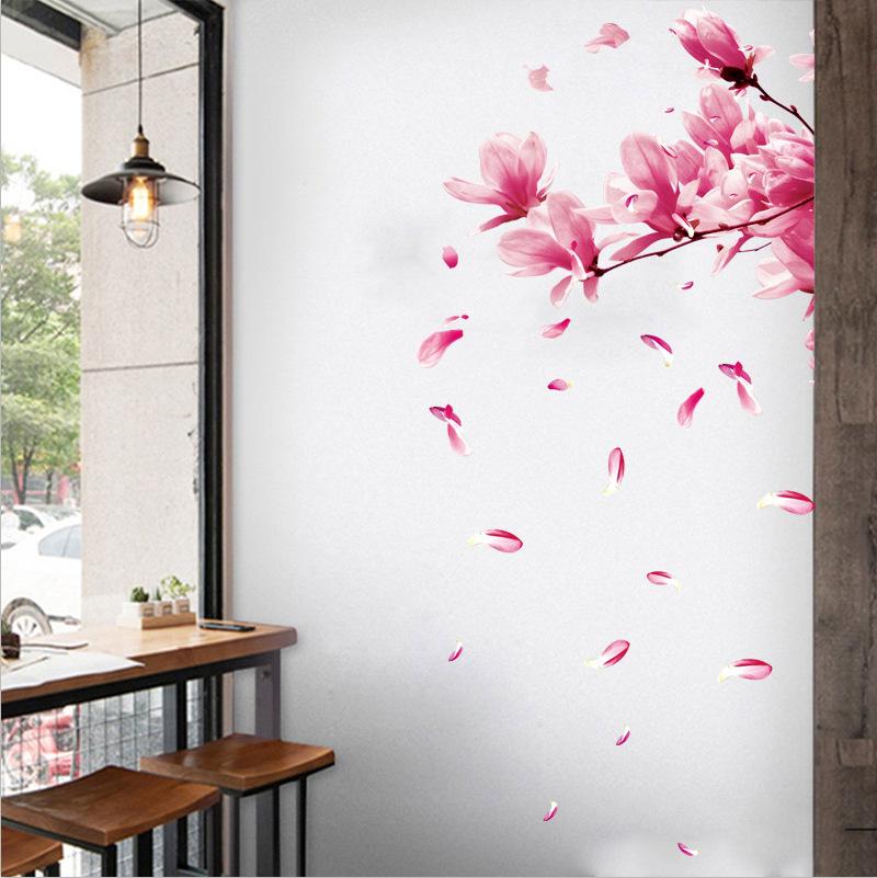 de gran calidad y larga duraci/ón MADE IN SPAIN 75 pcs.hibisco flores rosa Flower Butterfly,pink 10-12 cm Pegatinas y vinilos adhesivos para tuning de coches y motos,Tatuajes de pared,azulejo pegatina,Pegatinas