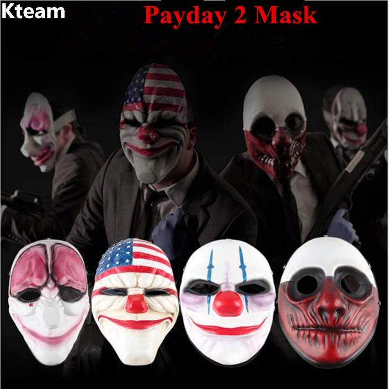 Marr/ón Payday 2 Mask Joker Payday2 M/áscaras de Fiesta Heist Dallas//Wolf//Chains//Hoxton Party Cosplay Halloween M/áscara de Disfraces de Terror