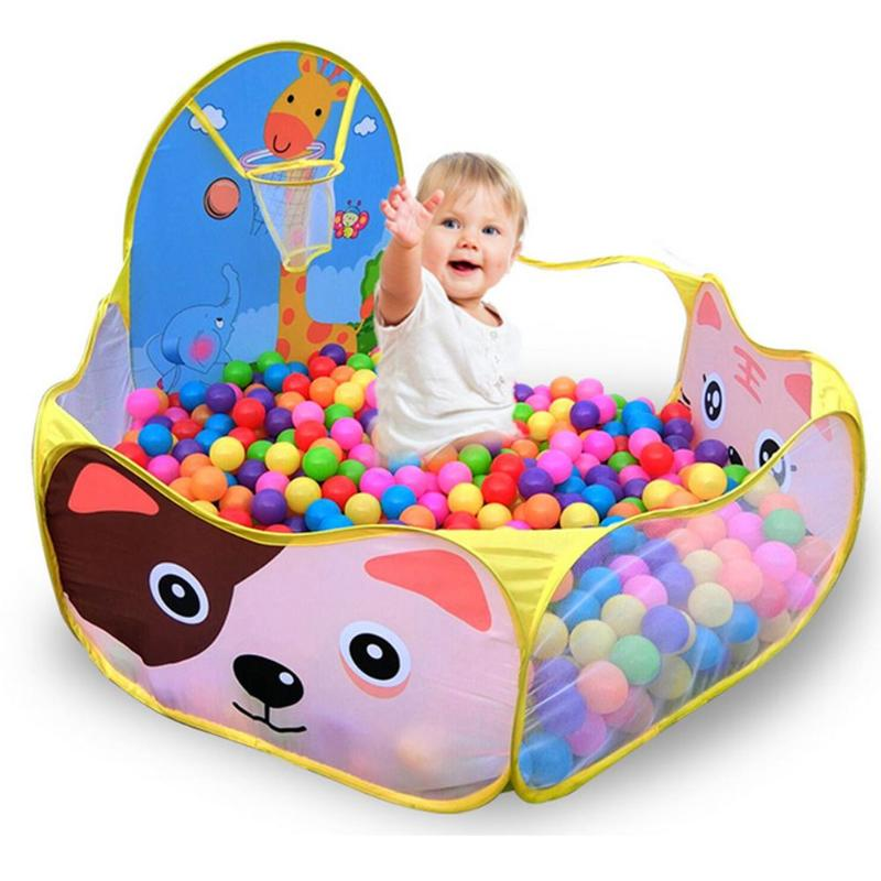 Indoor Kids Game Play Toy Tent Outdoor Portable Ocean Ball Pit Pool Foldable Children Outdoor Sports Educational Toy With Basket