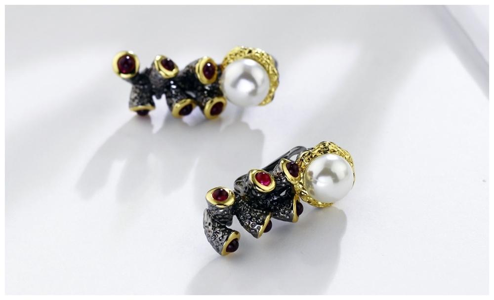 Simulated Pearl earrings WE3784 (8)