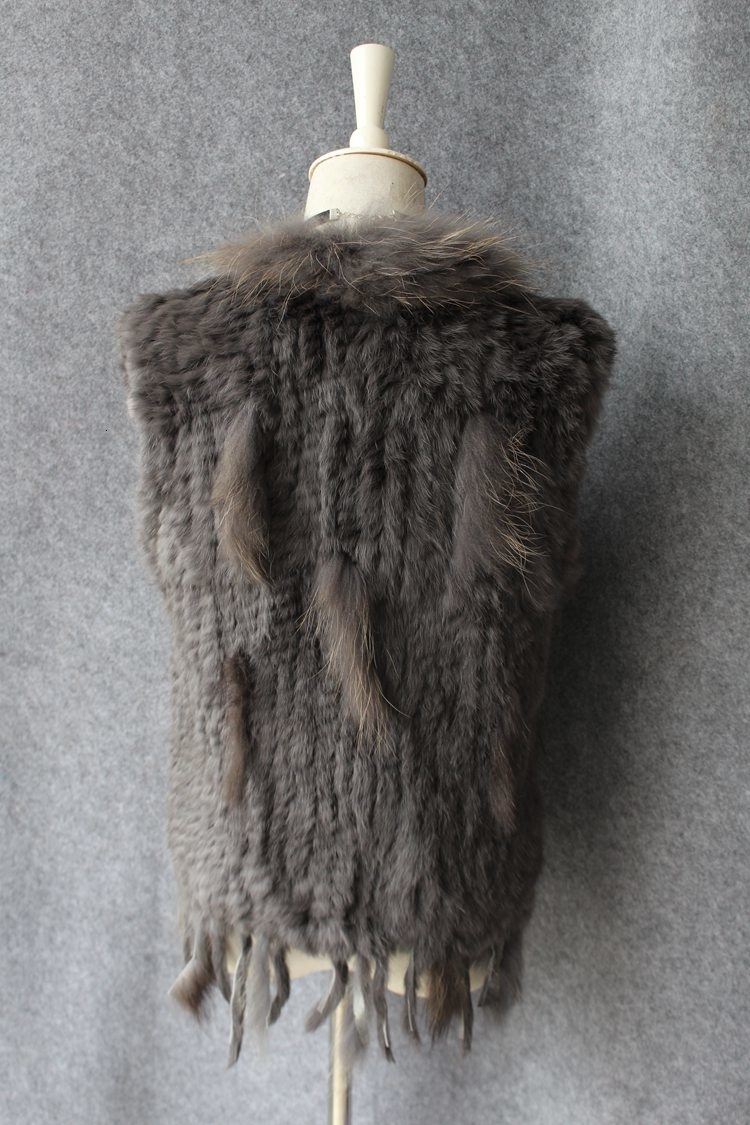 genuine real rabbit fur vest with raccoon fur collar (27)