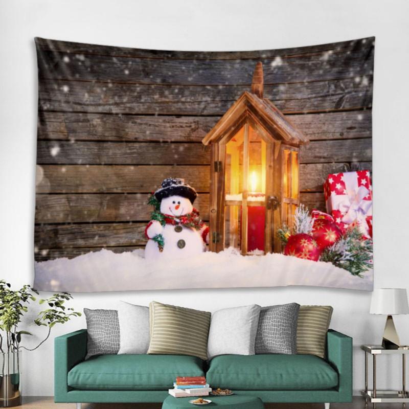 Natale Home Tapestry Parete Blanket Stampa Wall Hanging Arte Arazzi Decorazioni Domestiche per Party Background Wall Decor
