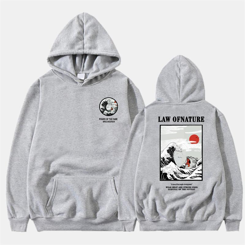 Neueste Japanische Lustige Katze Welle Gedruckt Fleece Hoodies 2019 Winter Japan Stil Hip Hop Casual Sweatshirts Kodak Streetwear C19041701