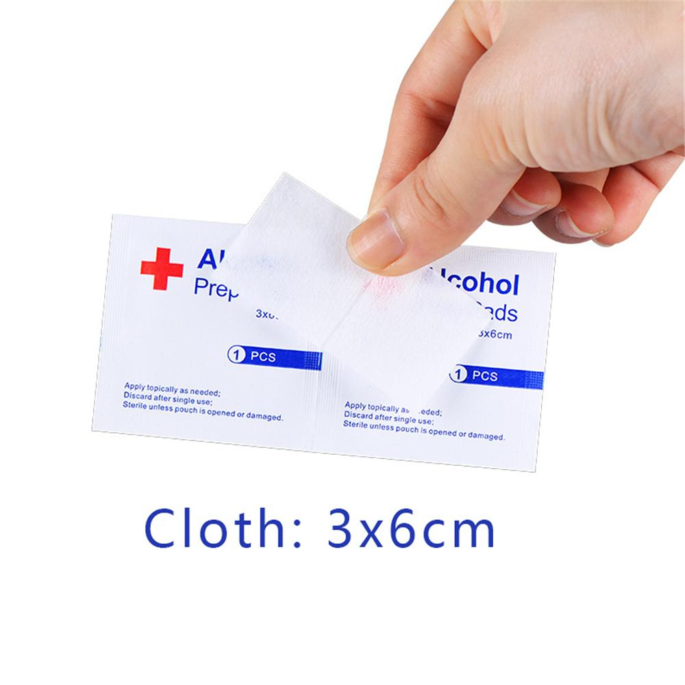 100pcslot Alcohol Prep Swap Pad Wet Wipe For Antiseptic Skin Cleaning Care Jewelry Mobile Phone Glasses Clean Tool Alcohol Pads (5)