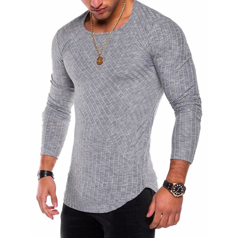 Plus Size S-4xl Slim Fit Sweater Men 2018 Spring Autumn Thin O-neck Knitted Pullover Men Casual Solid Mens Sweaters Pull Homme T2190612