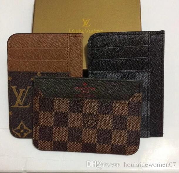Carteira para cartões de crédito Mens carteira de couro genuíno carteiras de alta qualidade com titular do cartão Clipe de dinheiro 2018 Bolsa de homens novos pequeno Vallet