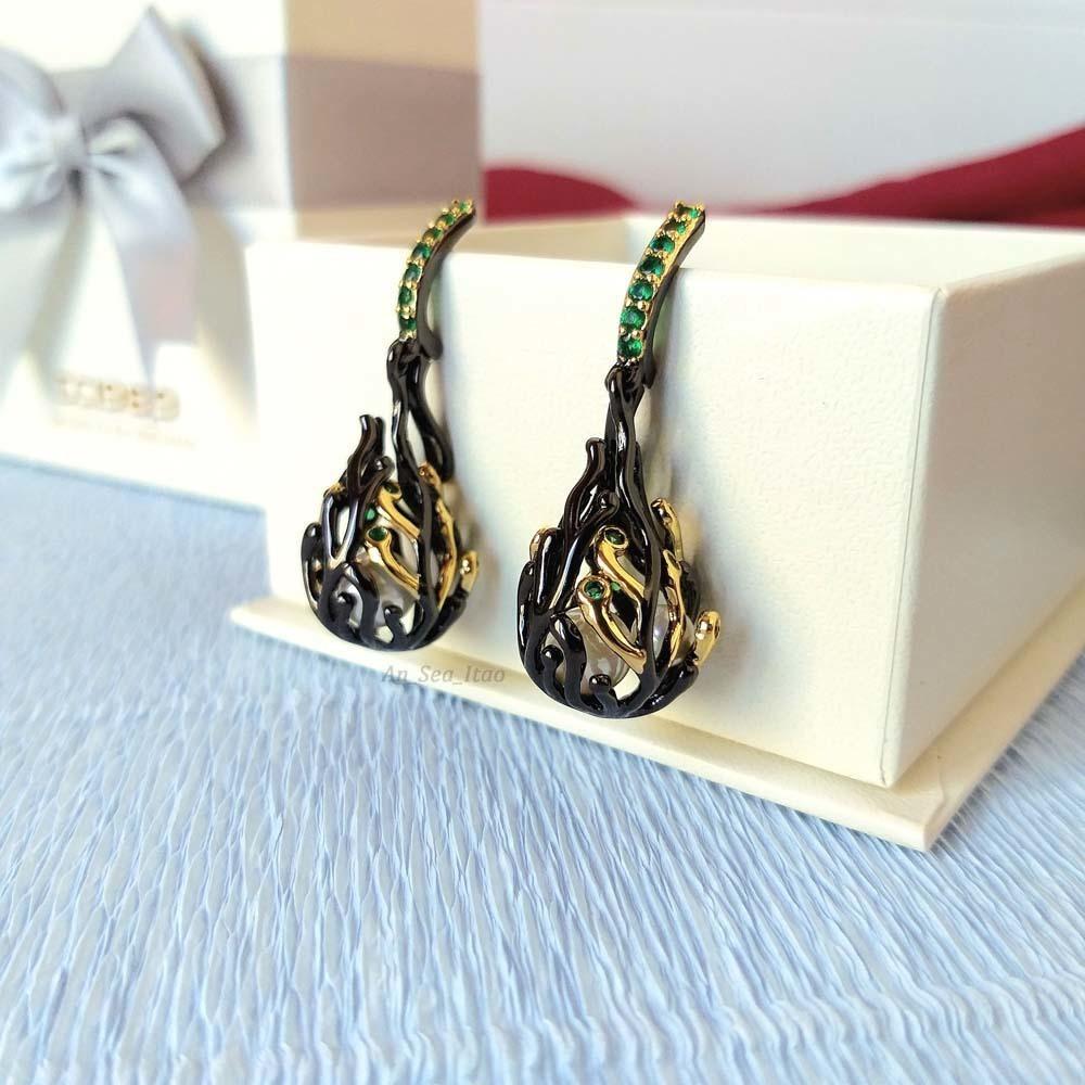 WE3771 pearl earrings women (2)